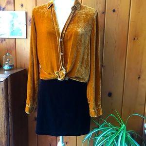 90's stretch velvet skirt 🤩